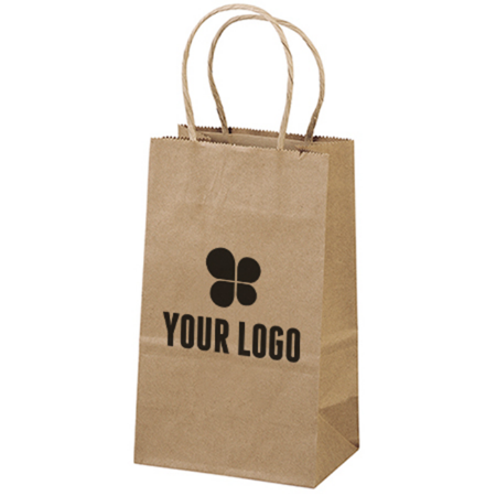5-1/4 x 8-1/4 Recycled Kraft Paper Bag